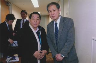 山口敏夫さんと 山口敏夫さんと 東條英機のお孫さんの東條由布子さんと何度かテレビで一緒になったこ